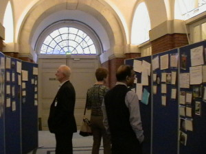 The 'Postcard' exhibition on display at the BMA